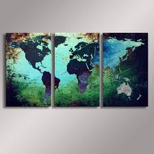 world map painting oil painting 100 hand painted modern wall art painting abstract oil