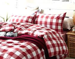 ed bauer alder plaid duvet cover set king charcoal red covers flannel