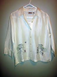 Chico 39 S Design Large 3 4 Sleeve Silk Outside Victoria