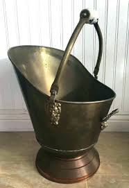 fireplace ash bucket deluxe plow hearth double bottom metal fireplace ash bucket with lid fireplace ash