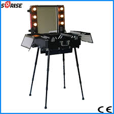 Beauty Station With Lights Db 2008 China Red Trolley Makeup Station With Lights Feet
