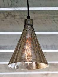 mercury glass pendant light mercury