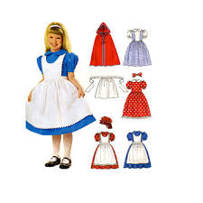 s storybook character costume pattern hooded cape a dress dress up costumes s