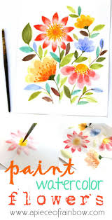 Easy Floral Designs To Paint Paint Watercolor Flowers In 15 Minutes