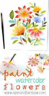 paint watercolor flowers apieceofrainbowblog