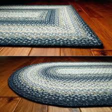 round braided rugs area throw rug white black