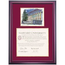 harvard school color premier widener library watercolor diploma  harvard school color premier widener library watercolor diploma frame
