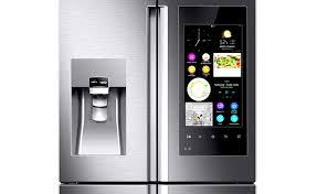 samsung tv refrigerator. samsung\u0027s family hub fridge. the samsung tv refrigerator