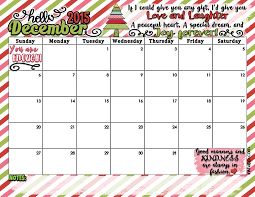 Dec 2015 Printable Calendar Printable Calendar Birthday Cards