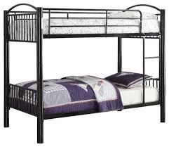 Metal Twin/Twin Bunk Bed - Contemporary - Bunk Beds - by Benzara ...