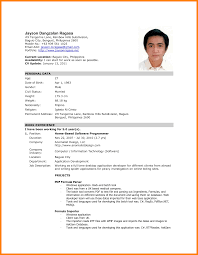 Beautiful Sample Resume For Abroad Application Images - Simple .