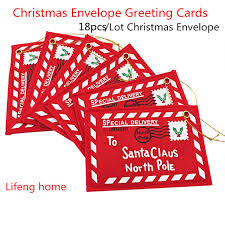 Us 10 3 48 Off Aliexpress Com Buy New Red 18pcs Lot Christmas Envelope Christmas Greeting Cards Candy Bag Perfect Christmas Gifts For Friends