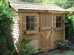 ... Charming Design Of Garden Tool Sheds : Beautiful Garden Decoration With  Oak Wood Garden Tool Shed ...