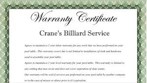 Warranty Certificate Template 10 Free Word Pdf Documents