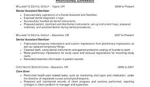 Dentist Resume Template Nanny Responsibilities On Resume