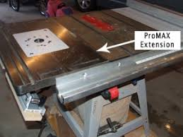 bench dog router table. promax router table installed on delta saw. bench dog