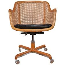 mid century modern office chairs. midcentury modern cane swivel desk chair by ward bennett 1 mid century office chairs o