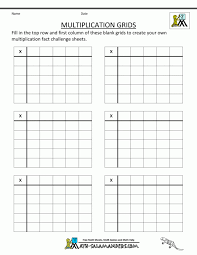 Kids : 4 Times Table Worksheets Speed Test blank times table ...