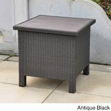 table fabulous outdoor storage tables 2 international caravan barcelona contemporary resin wicker aluminum side table 2a04a99a