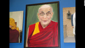 bush 39 s portrait of the dalai lama is seen at the