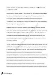 contemporary and traditional management strategies year hsc ecosystem management strategies essay