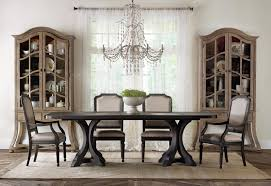 Pedestal Dining Table Set Hooker Furniture Corsica Rectangle Pedestal Dining Table Set With