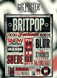 Free Music Poster Templates Free Gig Flyer Templates Band Event