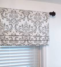 faux roman valance.  Valance Custom Faux Roman Shade Lined Gray Damask Mock Valance Premier Prints  Traditions Twill Storm Grey By Supplierofdreams On Etsy  For O