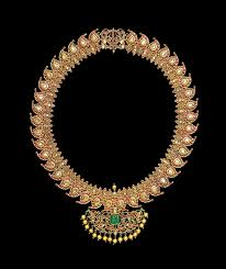 a diamond ruby and emerald set gold manga malai necklace tamil nadu south india 19th century estimate 50 000 70 000 63 000 88 000