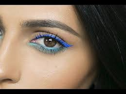 aquamarine eyes colored eyeliner tutorial here s a colorful eye makeup look for ya it s a fun playful eyeliner look for the summer hope you lo