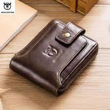 bullcaptain leather purse rfid card