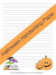 Handwriting Paper Printable Free Interesting Free Printable Halloween Handwriting Paper