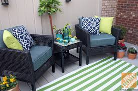 small deck decorating ideas hampton bay fenton set with a green striped outdoor rug