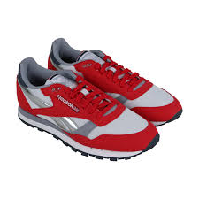 reebok classic leather primal red white cool shadow grpahite mens sneakers low top shoes 0