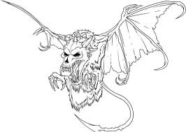 Scary Monster Coloring Pages Coloringstar