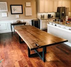 Custom Live Edge Kitchen Tables Modern Farm Dining Furniture