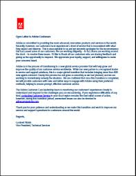 Business Apology Letter For Poor Customer Service Adobe Publicly Apologizes About Its Customer Service