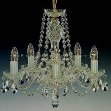 Elite Bohemia Kristall Kronleuchter Mit Fünf Armen Silber Finish Swarovski Kristall L111502n