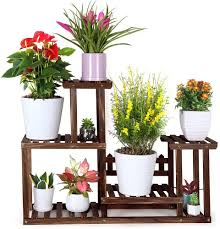 foldify pine wood plant stand