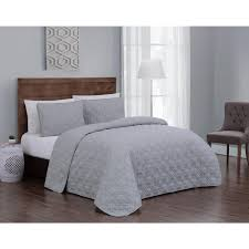 geneva home fashion embossed jess light grey twin quilt set 2 piece ejs3qttwinghlg the home depot