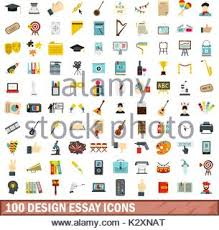artistic essay icons set flat style stock vector art   100 design essay icons set flat style stock photo