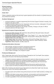 Best Solutions of Technical Support Specialist Resume Sample On Description