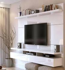 entertainment center wall mount white