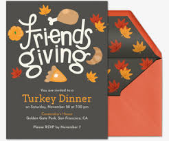 Free Online Thanksgiving Invitations Free Thanksgiving Dinner Online Invitations Evite