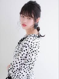 濡れ髪ガーリーアレンジヘアカタログ 美容室 Nyny イオン高の原店 鳥羽