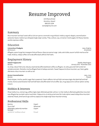 Traditional Resume Layout Apa Example