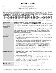 sample resume school counselor resume objective sle - Sample Guidance  Counselor Resume