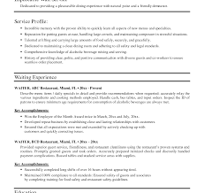 waiter resume sample beautiful sample of waiter resume with additional examples template