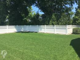 Vinyl privacy fence Almond Cellular Vinyl Privacy Fence With Mt Vernon Topper Perfection Fence Cellular Vinyl Fences Perfection Fence