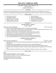 Doctors Resume Sample Resume For Your Job Application